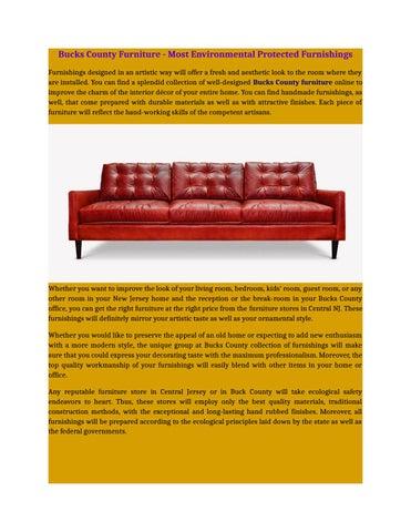 Bucks County Furniture Most Environmental Protected Furnishings