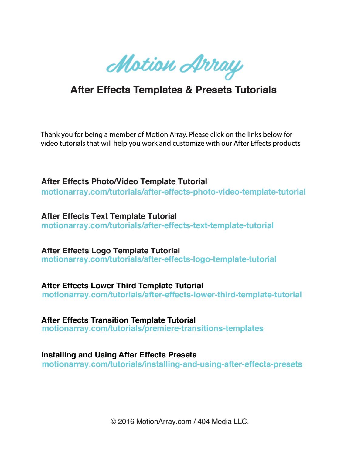After effects instructions by el-balad - issuu
