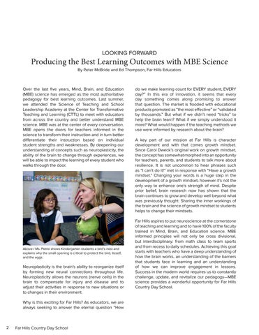Page 4 of Producing the Best Learning Outcomes with MBE Science