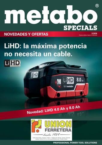 port Metabo BS 18 Quick 10 mm 18 V // 2,0 taladro atornillador 18V 2.0 ah