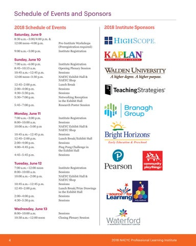 Page 6 of NAEYC Institute Announcements