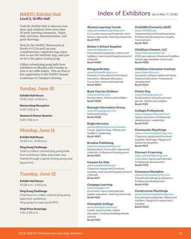Page 93 of NAECY Exhibit Hall & Exhibitors