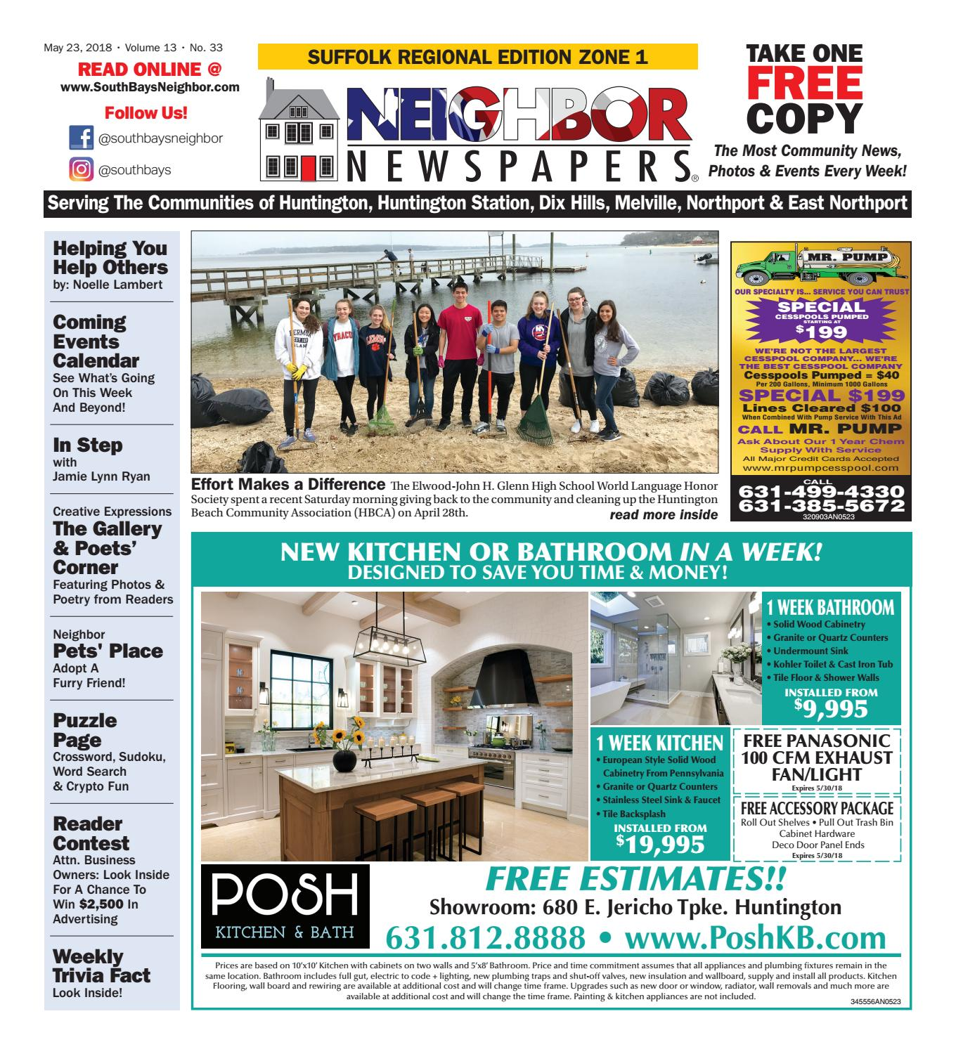 May 23rd, 2018 Suffolk Zone 1 by South Bay's Neighbor Newspapers - on amityville kitchen, oyster bay kitchen, sweet home kitchen, brooklyn kitchen, vineyard kitchen, charlotte kitchen, stepney kitchen, honolulu kitchen, new orleans kitchen, east hampton kitchen, louisville kitchen, charleston kitchen, santa fe kitchen, florida kitchen, corporate design kitchen, elmo kitchen, new york kitchen, hawaii kitchen, hometown kitchen, cobblestone kitchen,