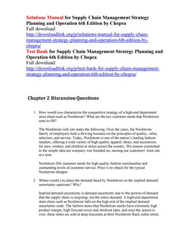 solutions manual for supply chain management strategy planning and rh issuu com solution manual supply chain management 4 edition sunil chopra solution manual for supply chain management 5th edition by chopra