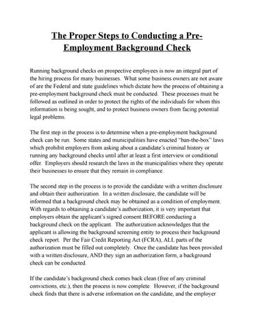 What Employers Look for in Background and Credit Checks