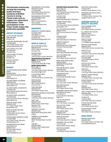 Page 36 of BUFFALO COUNTY TRAVEL BUSINESS DIRECTORY
