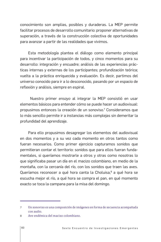 Sexto encuentro de investigaciones emergentes by IDARTES - Instituto ...