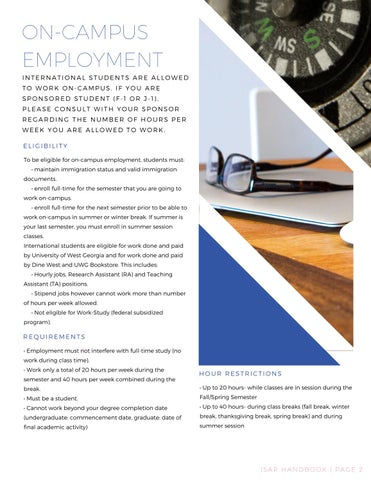Page 3 of On Campus Employment