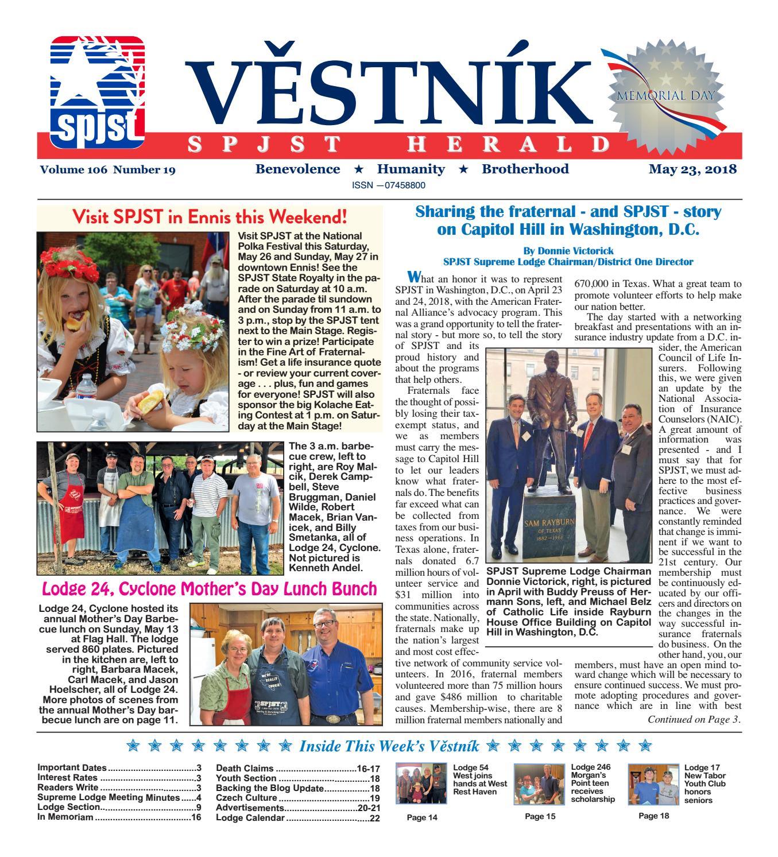 Vestnik 2018 05 23 by SPJST issuu