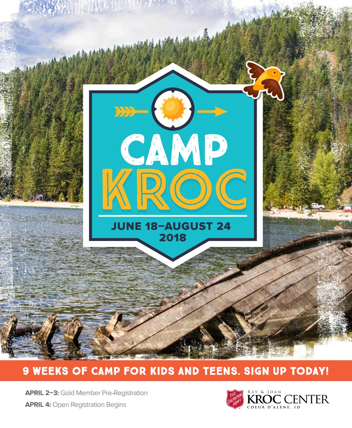 Camp Kroc 2018 Brochure By The Salvation Army Kroc Center Coeur D