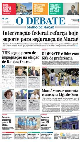 Edição 9559 22 05 2018 by O DEBATE Diario de Macae - issuu 77b2b88c2d