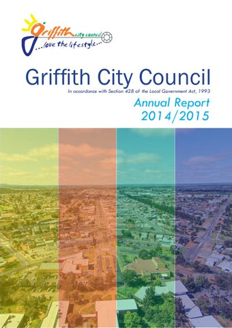 2014/2015 Annual Report by Griffith City Council - issuu