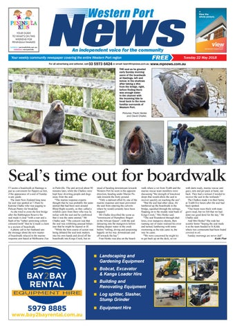 2d68289ec30 22 May 2018 by Mornington Peninsula News Group - issuu