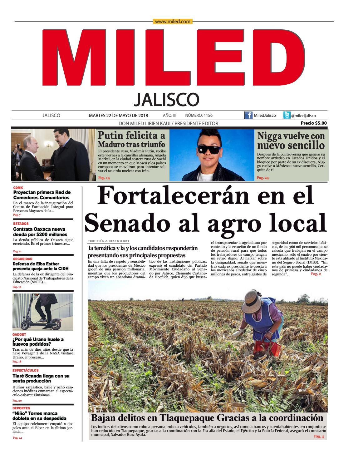 Miled Jalisco 22 05 18 by Miled Estados - issuu