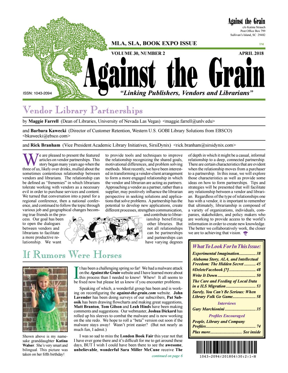 Against the grain v 30 2 april 2018 by against the grain issuu fandeluxe Image collections