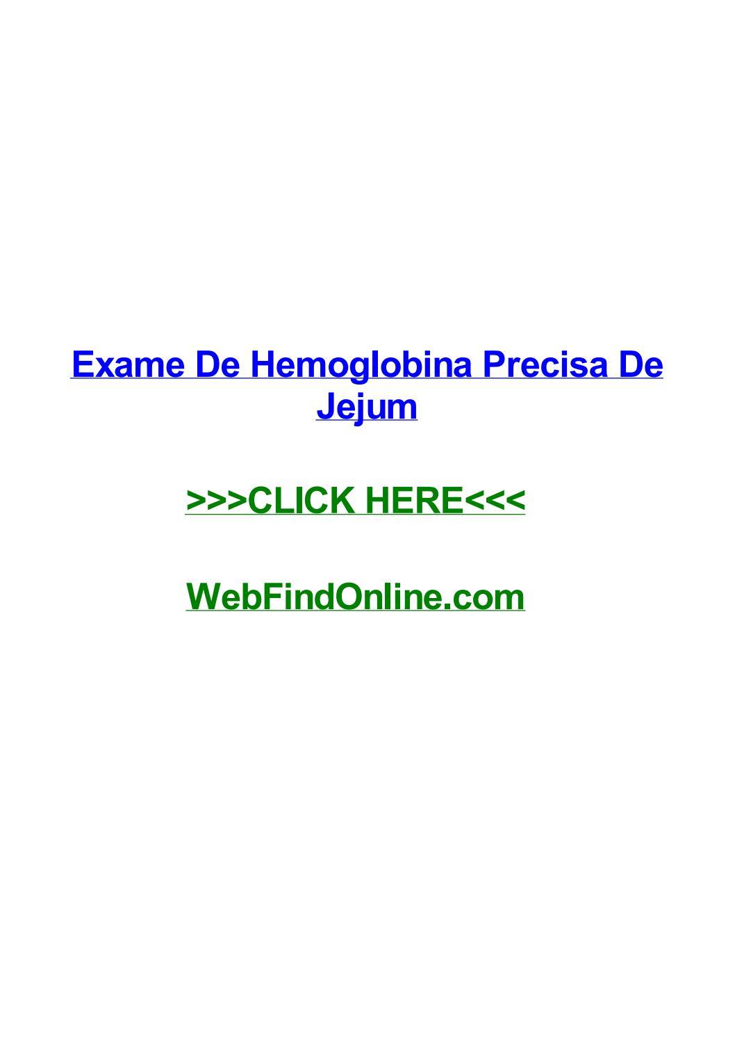 exame de hemoglobina precisa de jejum by dinanafh issuu538 Quanto Tempo Em Jejum Para Fazer Exame #4