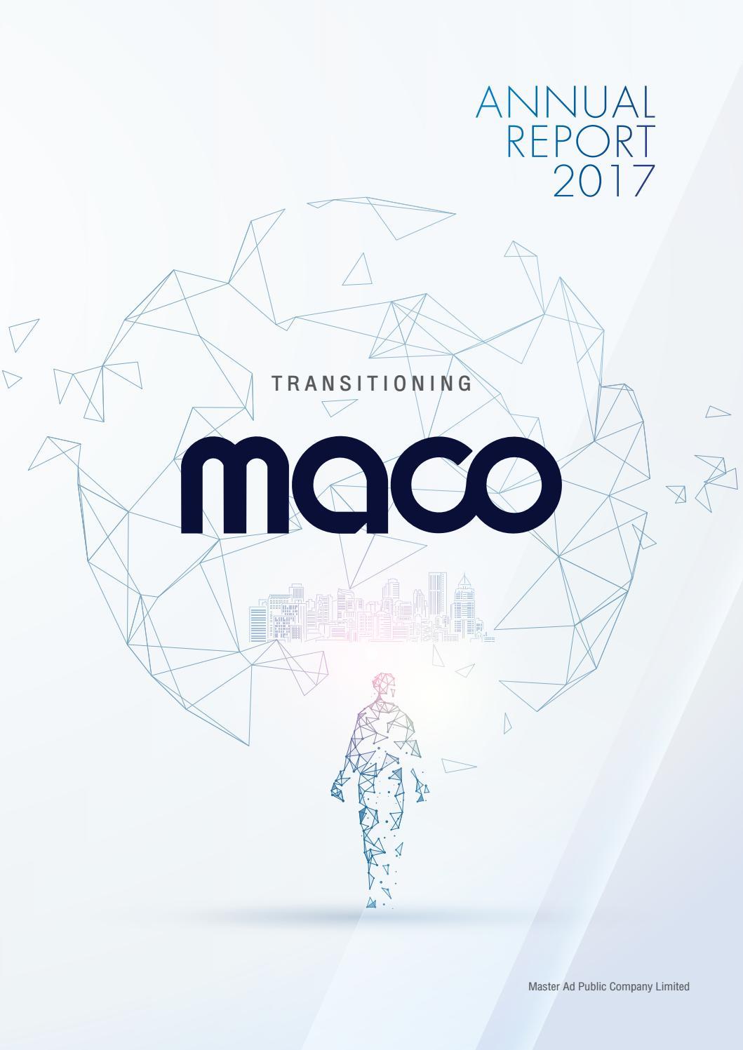 Maco Annual Report 2017 By Piyanat Kimhamanon Issuu