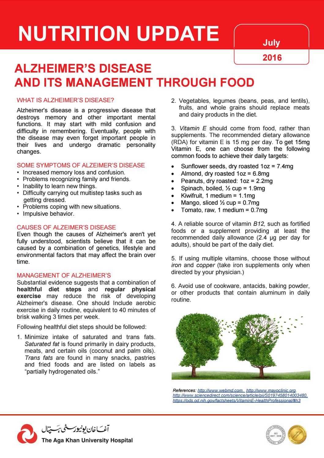 Nutrition tips for alzheimers by agakhanhospital - issuu