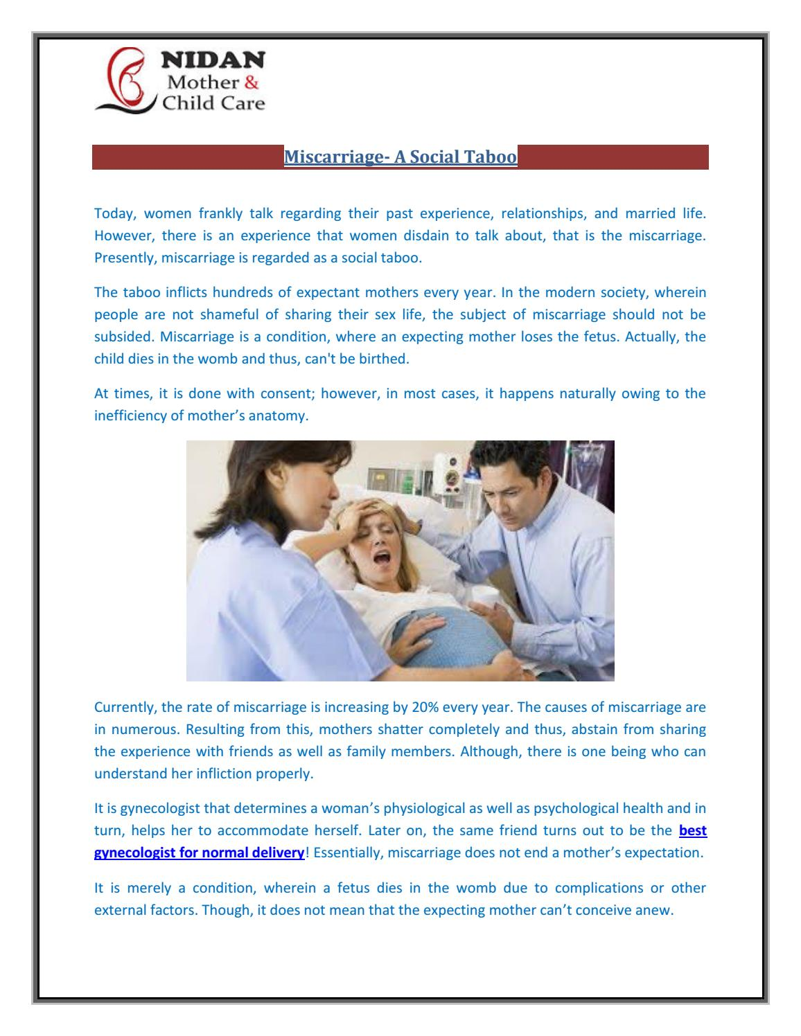 Miscarriage a social taboo by Nidan Child Care - issuu