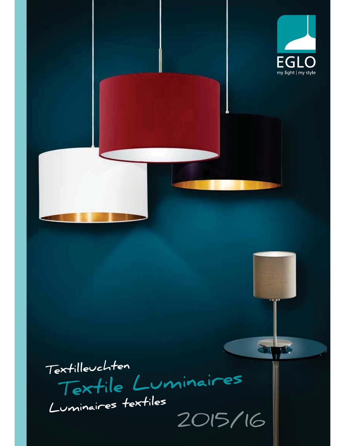 Eglo 31628 maserlo Lampe de table Acier Nickel-Mat Textile Gris Argenté