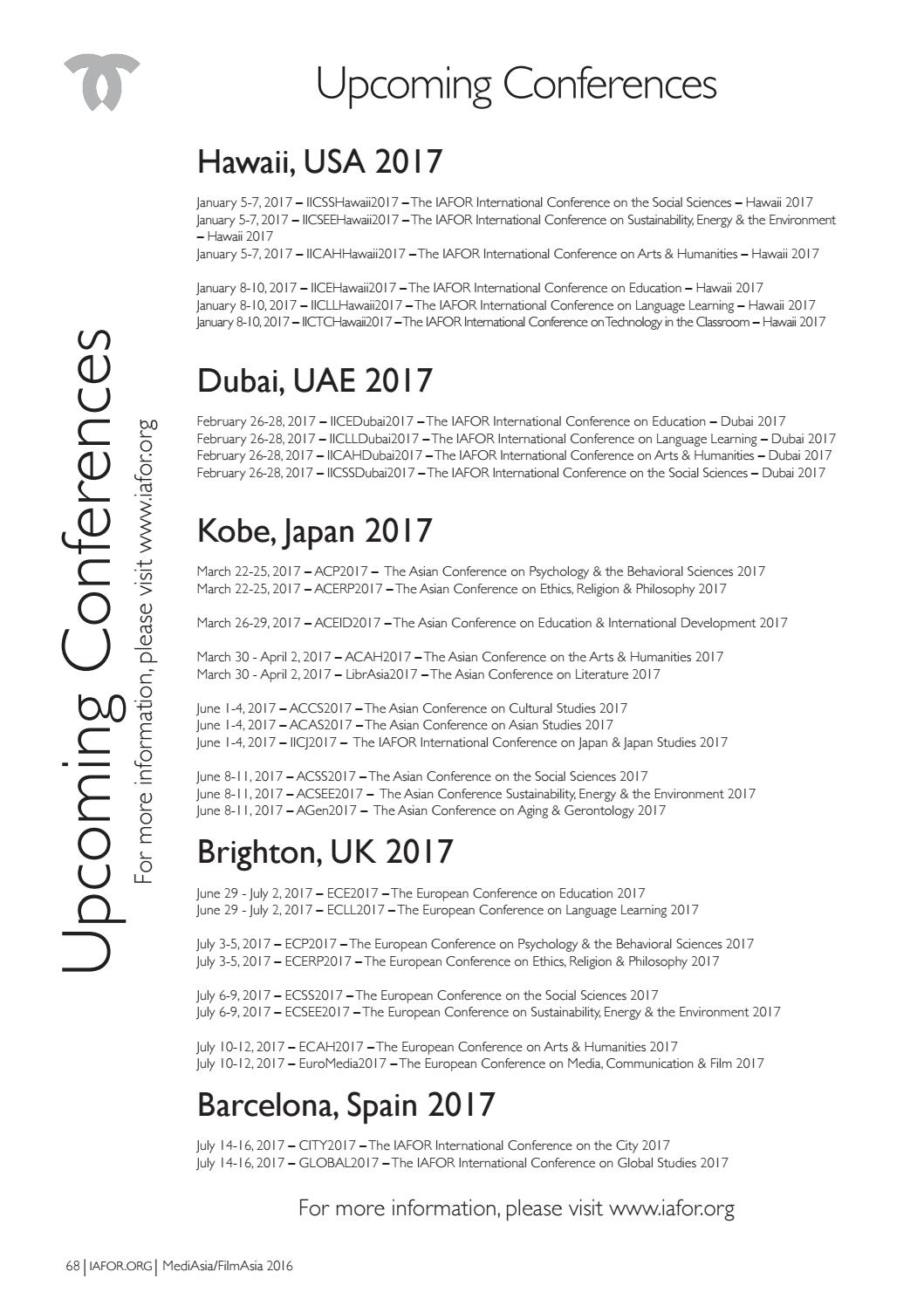 MediAsia / FilmAsia 2016 Official Conference Programme by