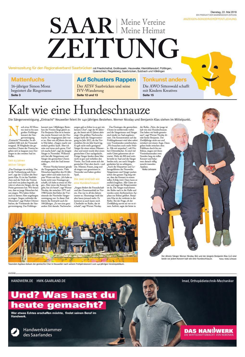 Saarzeitung Regionalverband Saarbrucken 22 05 2018 By