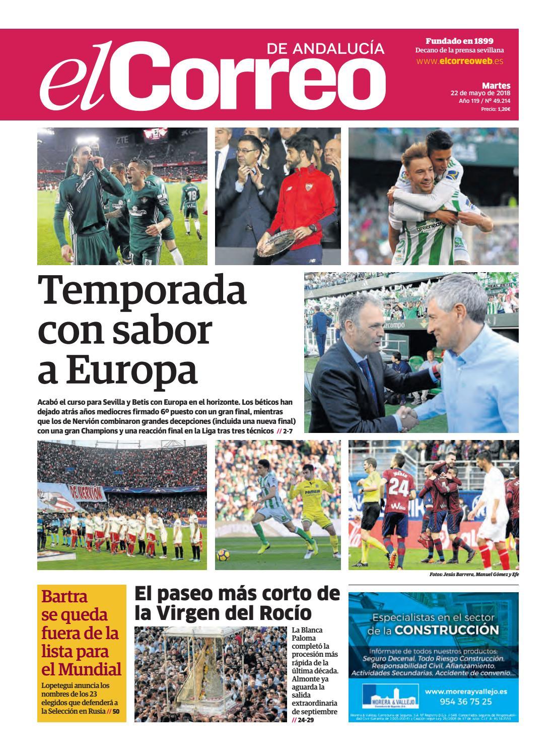 22.05.2018 El Correo de Andalucía by EL CORREO DE ANDALUCÍA S.L. - issuu a336c2214d04
