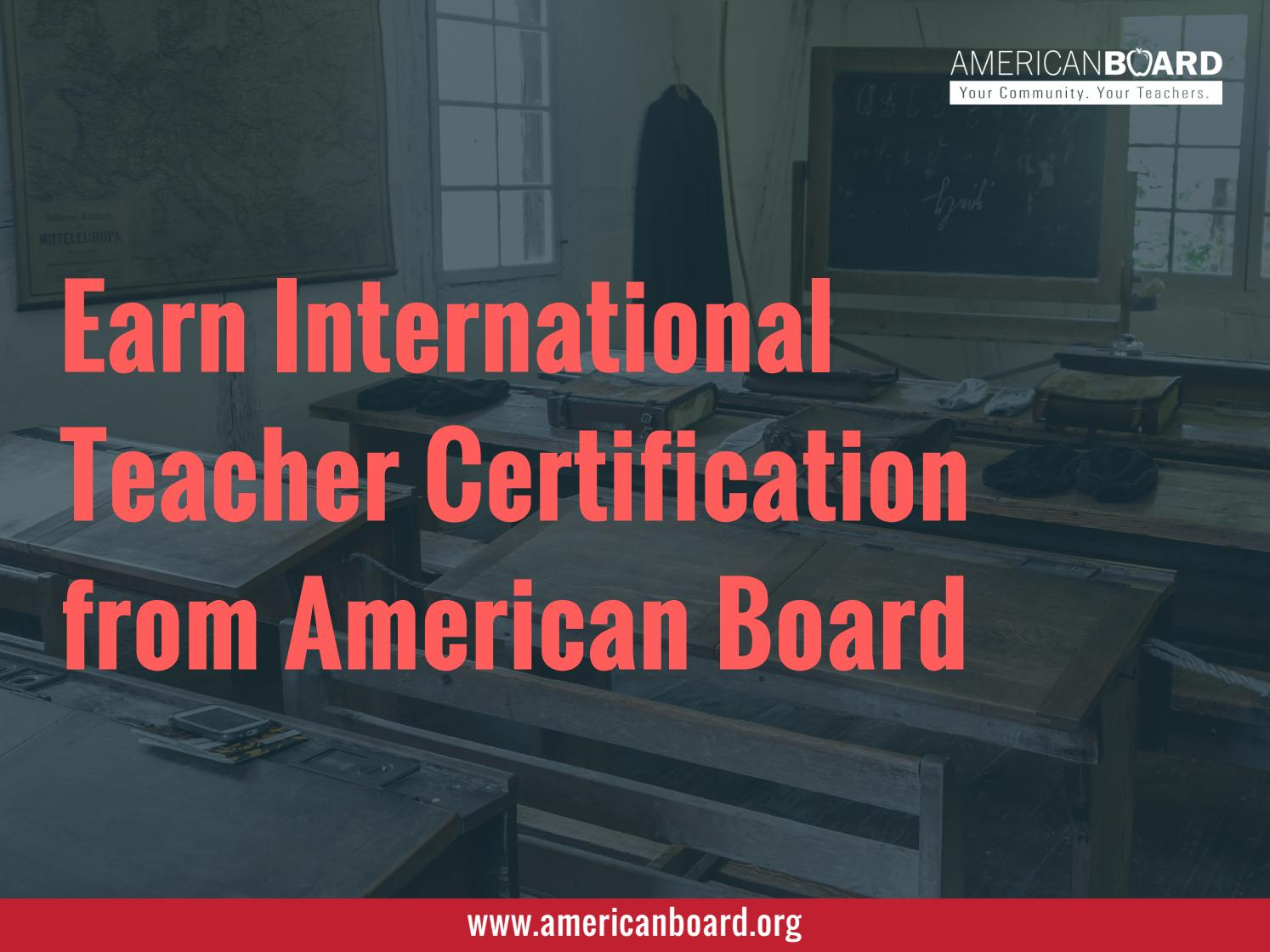 American board teacher certification