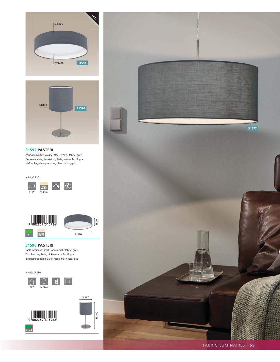 Eglo Interior Lighting Catalogue 2017 18 Part 1 By Led World