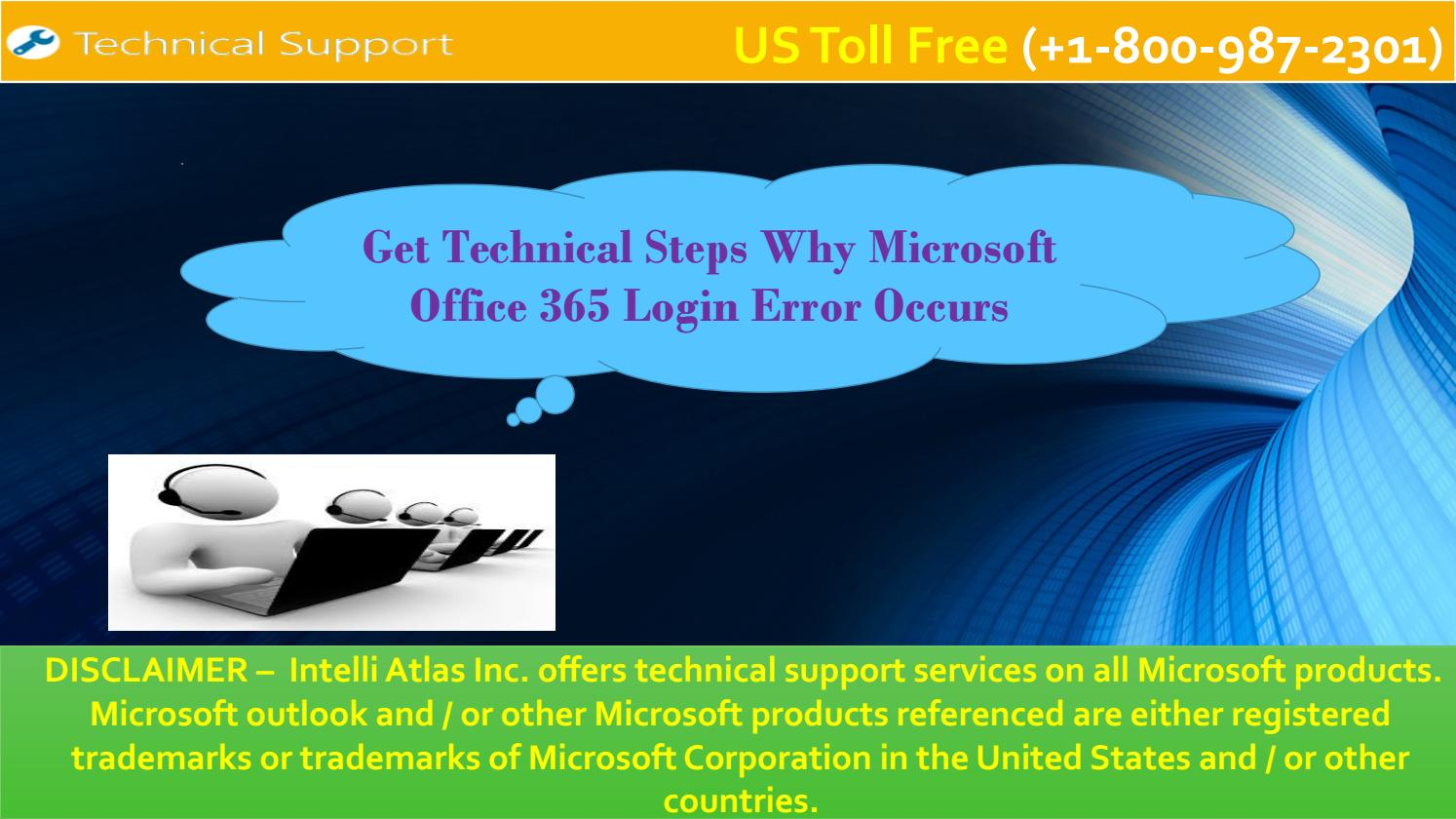 get technical steps why microsoft office 365 login error occurs by
