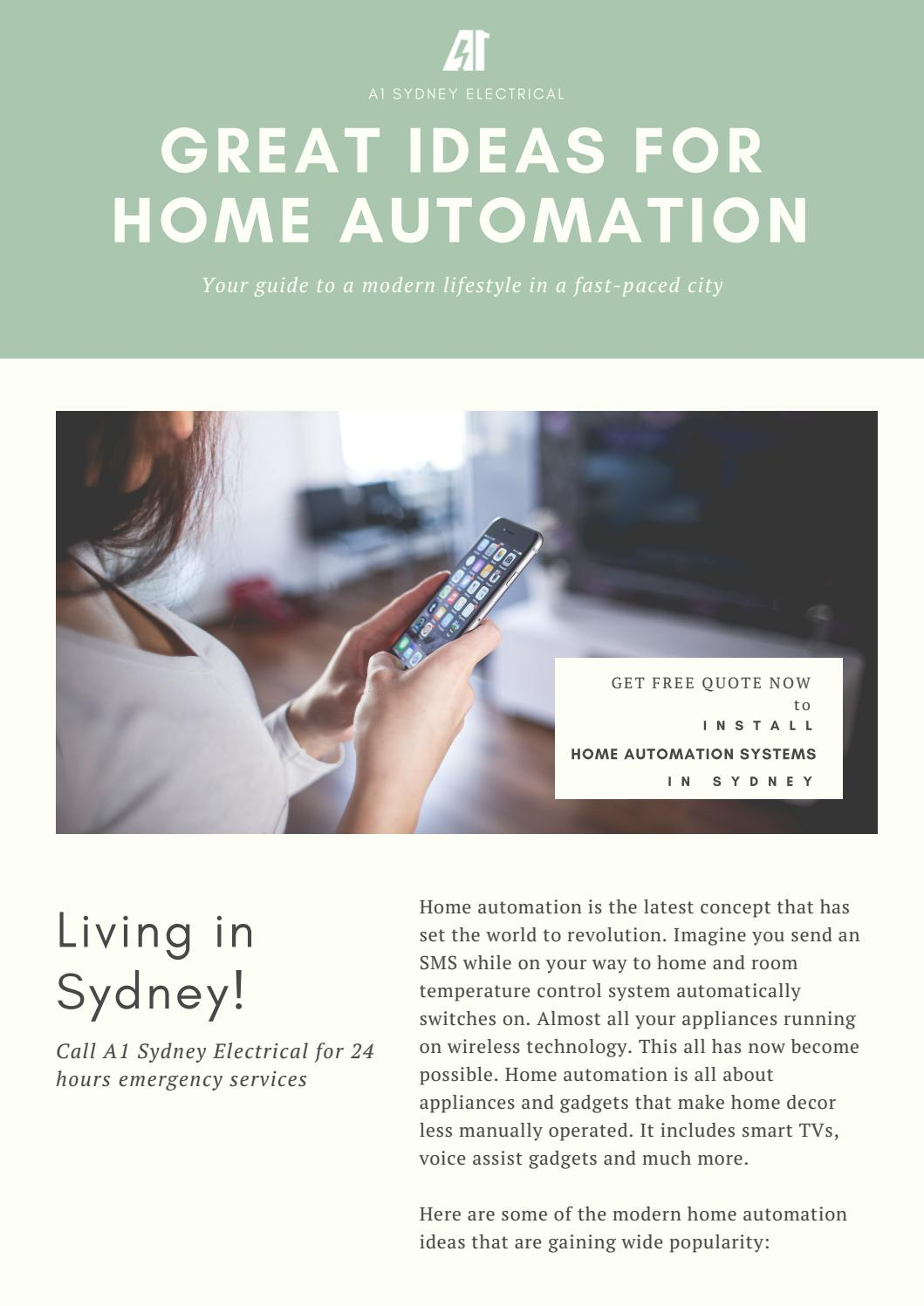 Home Automation A1 Sydney Electrical by a1sydneyelectrical - issuu