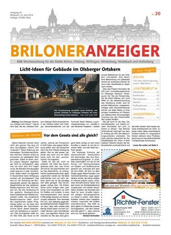 Briloner Anzeiger Ausgabe Vom 23.05.2018 Nr.20 By Brilon Totallokal ...