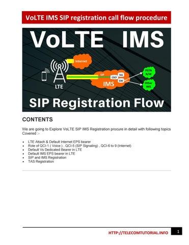 VoLTE IMS SIP registration call flow procedure by vikas
