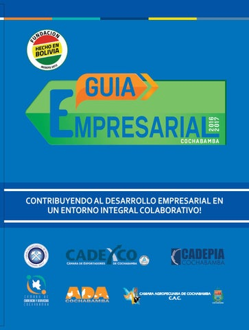 GUIA EMPRESARIAL COCHABAMBA 2016 by Fundacion Hecho en Bolivia - issuu 5b95640ca0f
