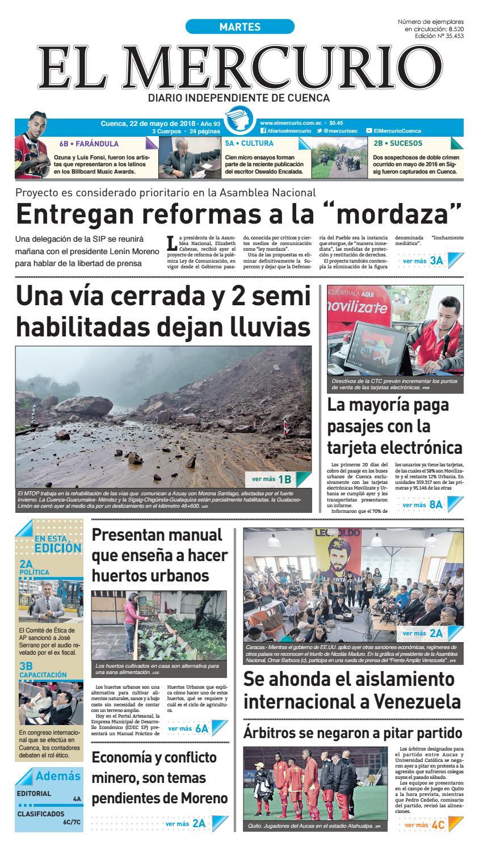 hemeroteca 22-05-2018 by Diario El Mercurio Cuenca - issuu