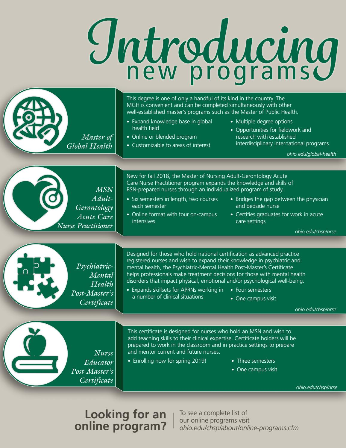 Connect Magazine Spring 2018 Ohio University Chsp By Ohio