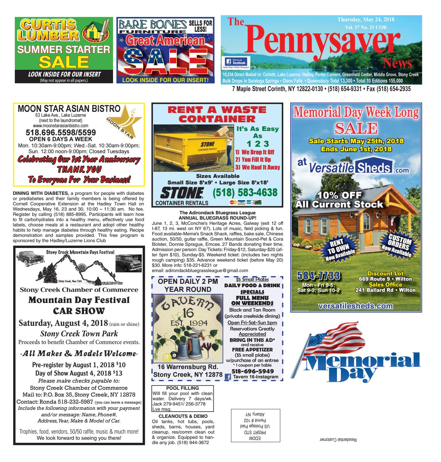 Corinth Pennysaver 052418 by Capital Region Weekly