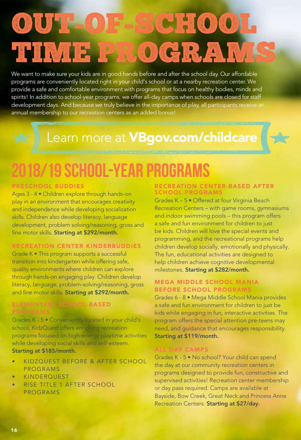 Summer Catalog By Virginia Beach Parks Recreation Issuu