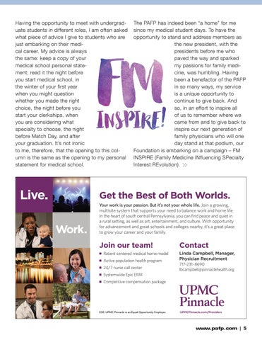 Page 5 of Get INSPIREd to build a home for family medicine in Pa.