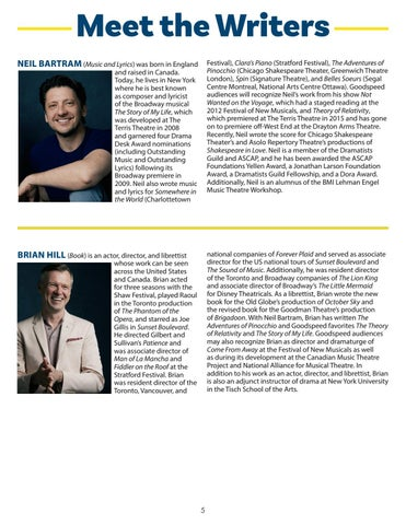 Page 5 of Meet the Writers & Director