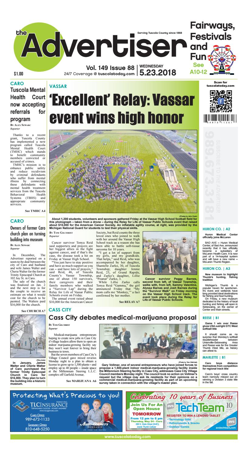 Tca 5 23 18 all pages by Tuscola County Advertiser - issuu