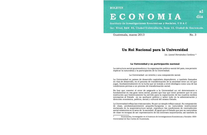 Boletín Economía Al Día No 03 Marzo 2013 By Iies Issuu