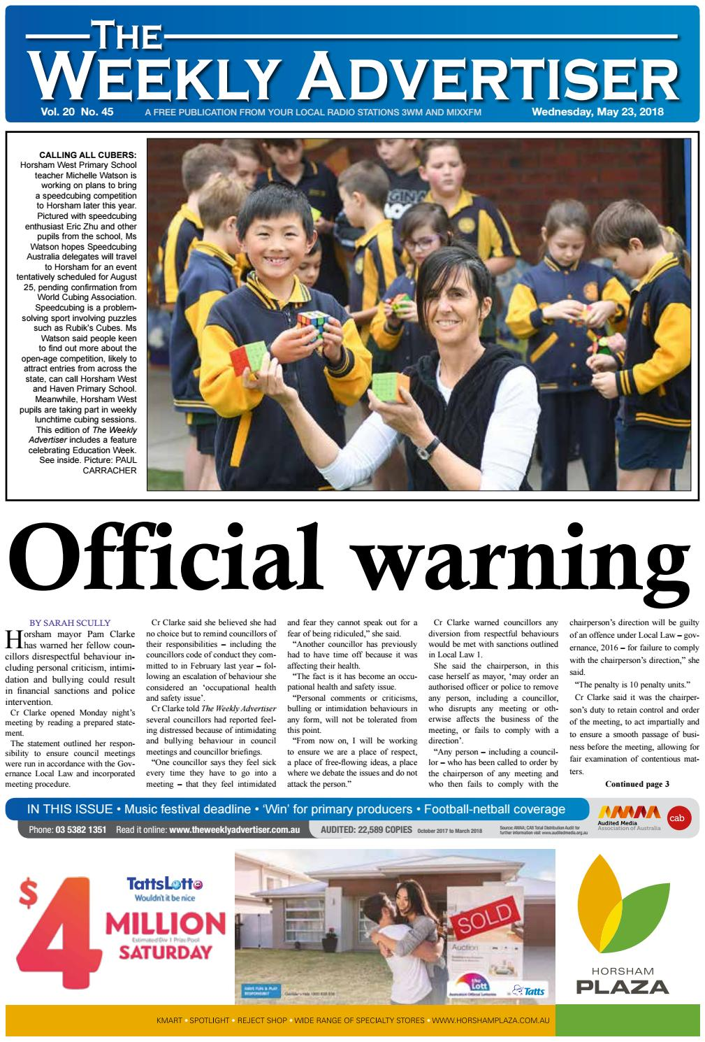 The Weekly Advertiser - Wednesday c25a4dfc3a99f