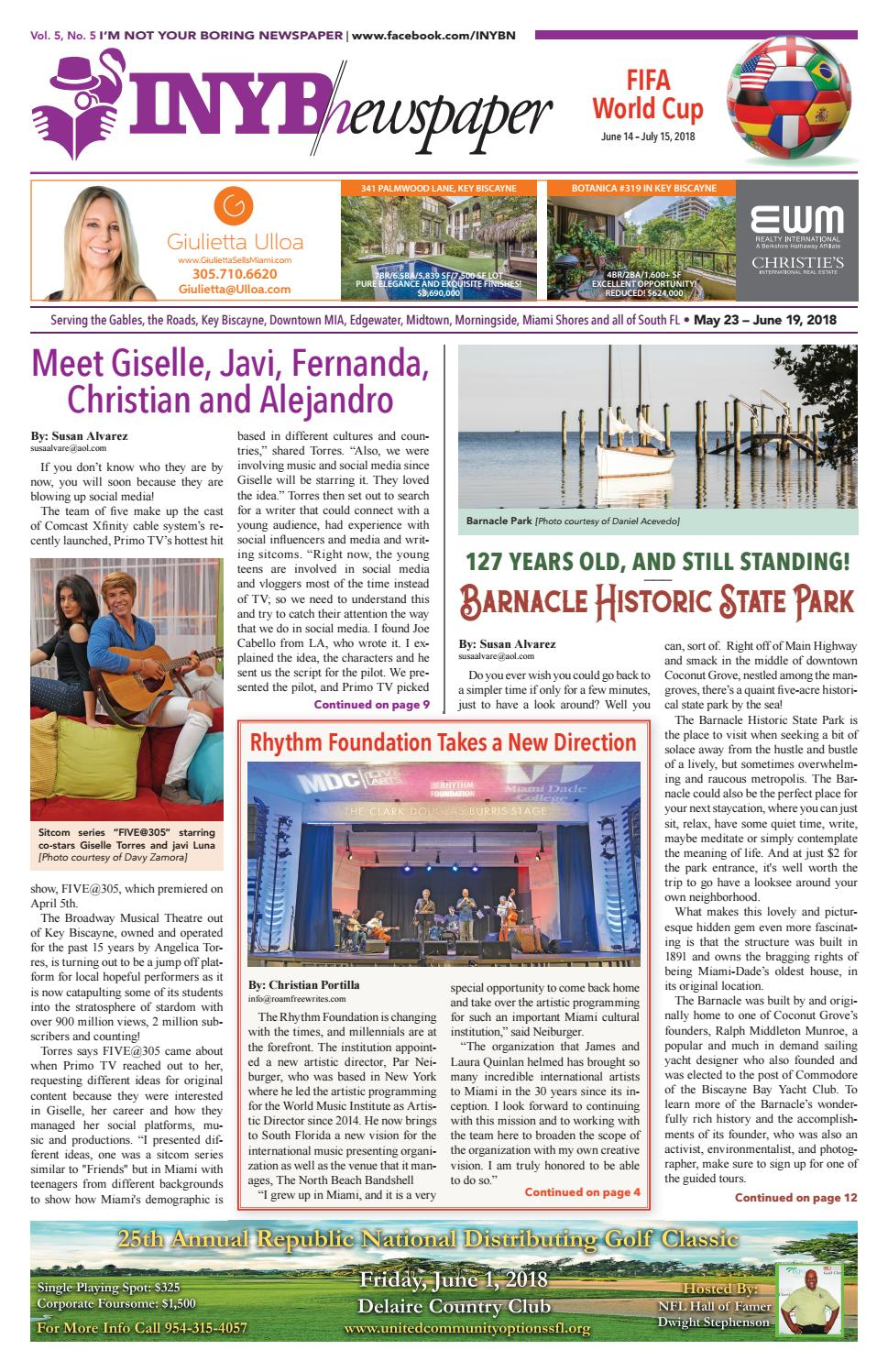 I'm Not Your Boring Newspaper May 23 2018 by INYBN - issuu