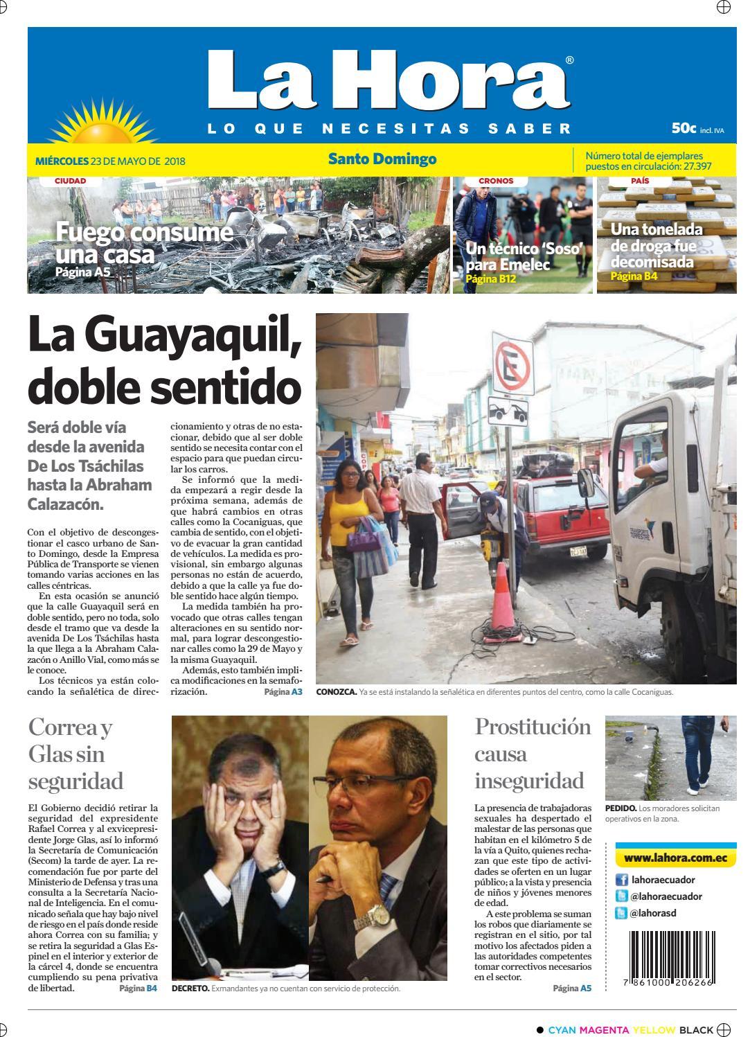 promo code 9db1f 3fb24 Santo Domingo 23 de mayo de 2018 by Diario La Hora Ecuador - issuu