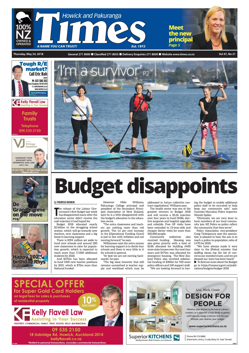 Howick and Pakuranga Times, May 24, 2018 by Times Media - issuu