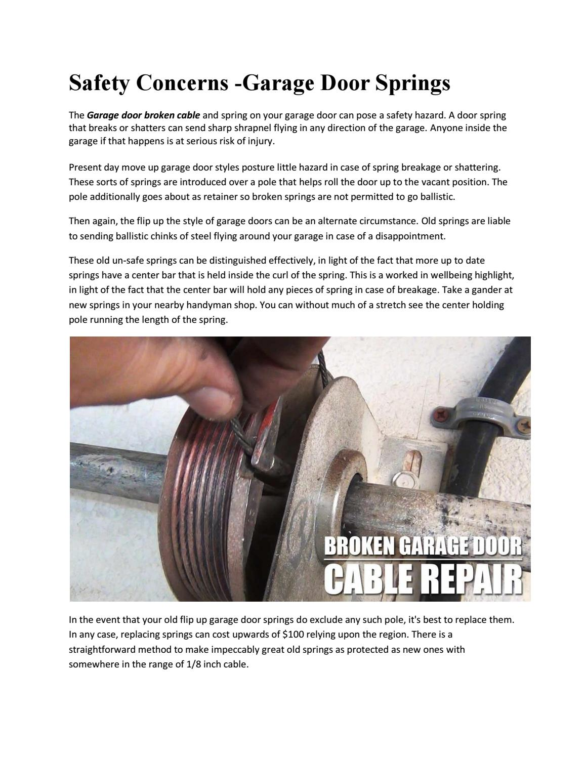 Safety Concerns Garage Door Springs By Alaxendar Bolt Issuu