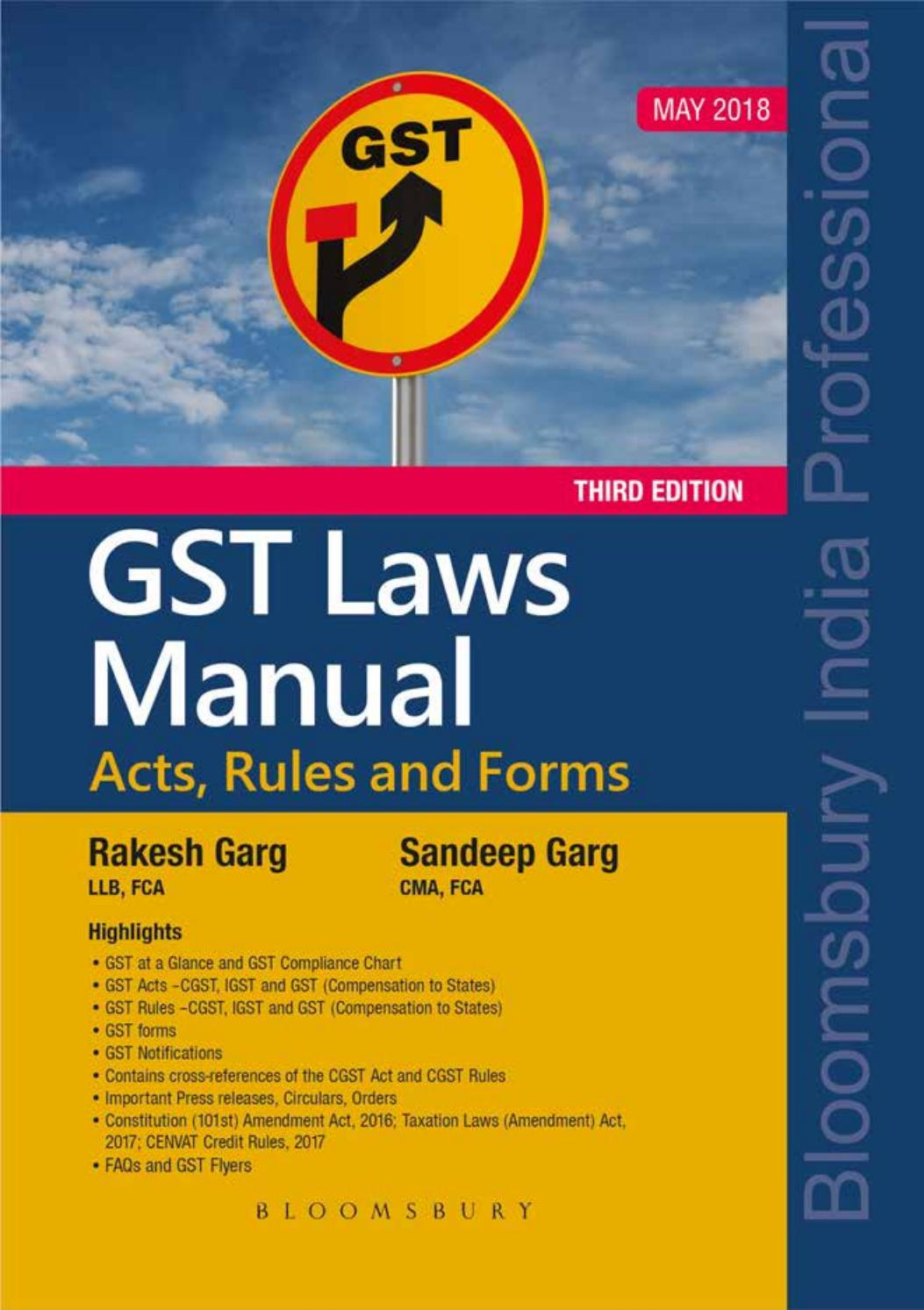 GST Laws Manual – Acts, Rules and Forms (3rd Edition) by Bloomsbury