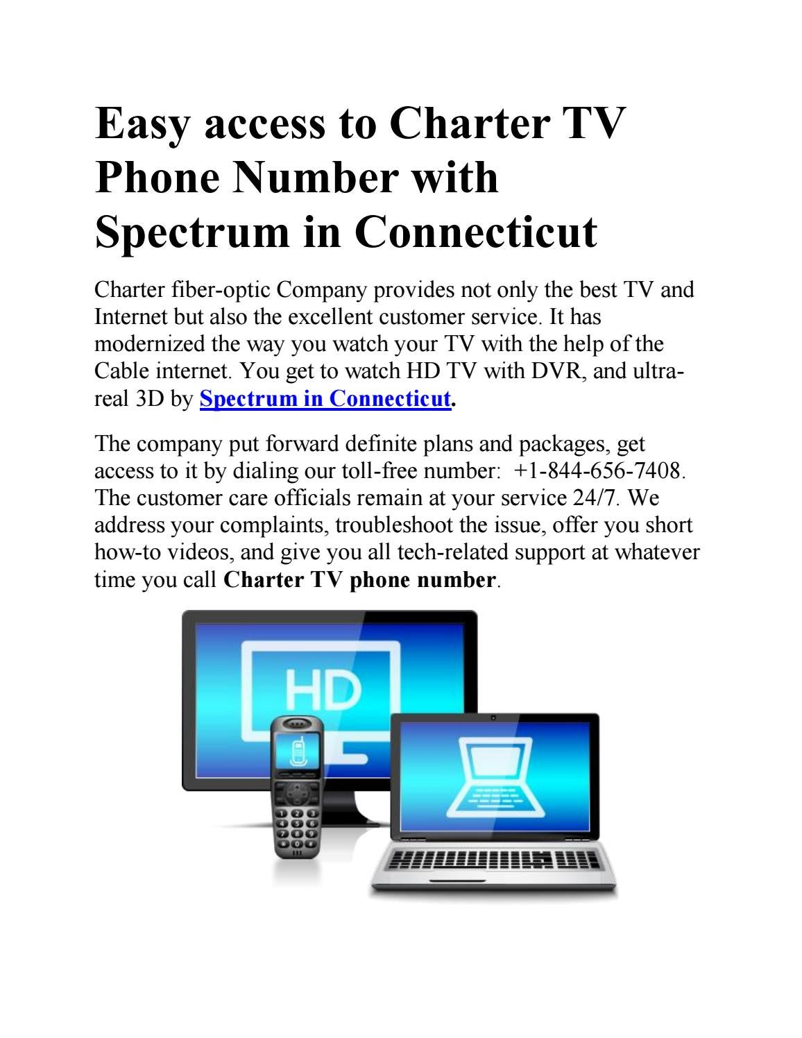 Easy access to charter tv phone number with spectrum in connecticut by My  Cable Internet - issuu