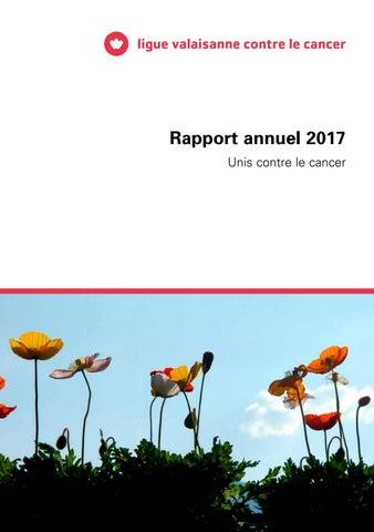 Rapport annuel Ligue valaisanne contre le cancer 2017 by